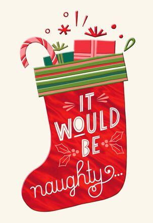 You Are on My Nice List Thank You Christmas Card