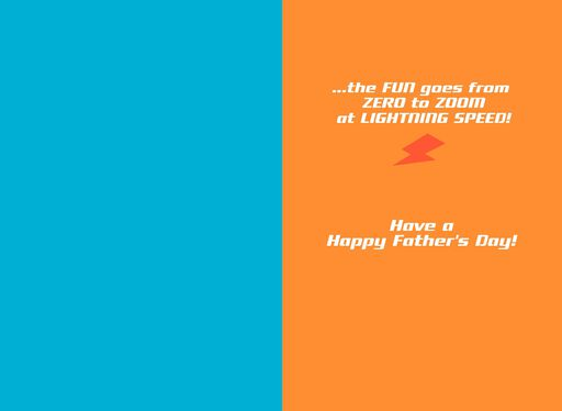 Disney/Pixar Cars Lightning McQueen Father's Day Card for Grandpa,