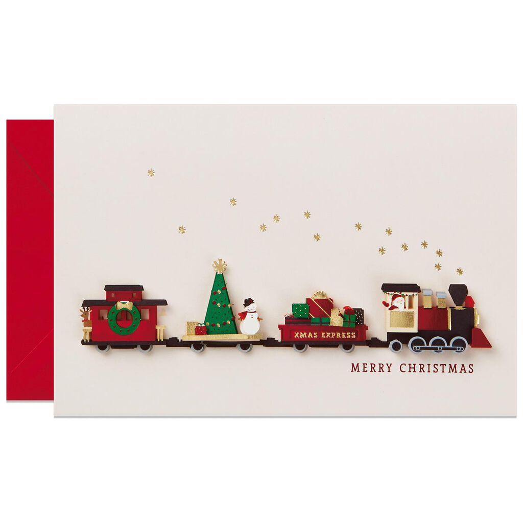 Paper Craft Train Christmas Card - Greeting Cards - Hallmark