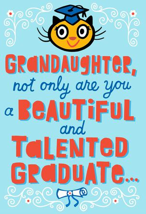 Long Line of Geniuses Pop Up Graduation Card for Granddaughter