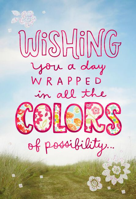 Colors Of Possibility Birthday Card For Cousin Greeting Cards