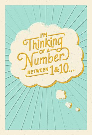 Number Between 1 and 10 Thinking of You Card