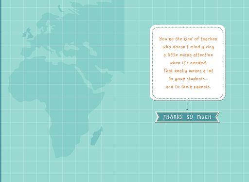 Globe Teacher Appreciation Card,
