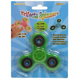 Glow-In-The-Dark Trifecta Spinner, Assorted Colors, , large