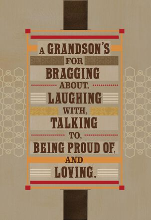 So Proud of You, Grandson Birthday Card