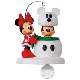 Disney Mickey and Minnie Snowmouse Surprise Ornament, , large