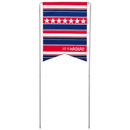 Let it Wave Patriotic Garden Flag With Stand, , large