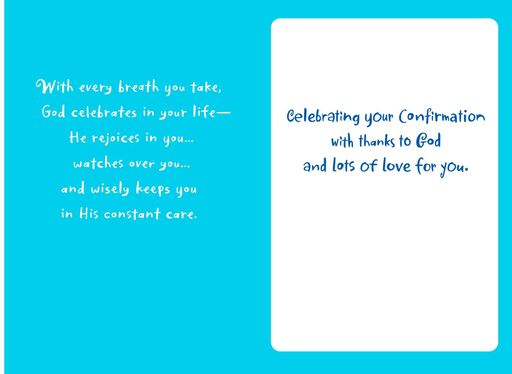 God Celebrates You Confirmation Card for Grandson,