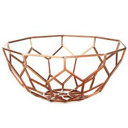 Geometric Design Copper Bowl, , large