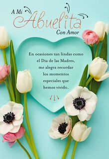 Special Place in my Heart Spanish-Language Mother's Day Card for Grandmother,