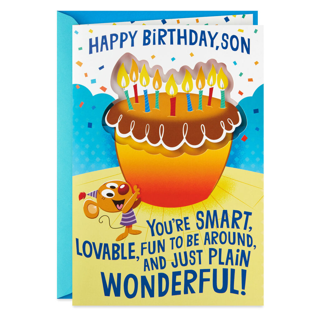 Wonderful Runs In The Family Funny Pop Up Musical Birthday Card For Son