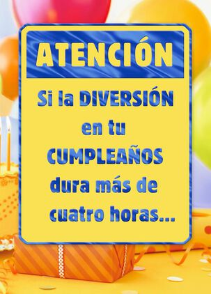 Prolong the Fun Spanish-Language Birthday Card