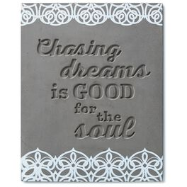 Chasing Dreams Stamped Concrete Sign, 8x10, , large