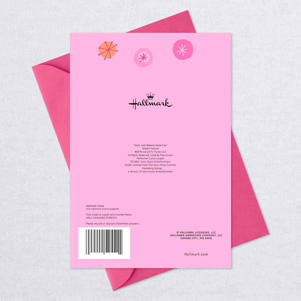 Sweet Wonderful You Pink Musical Birthday Card