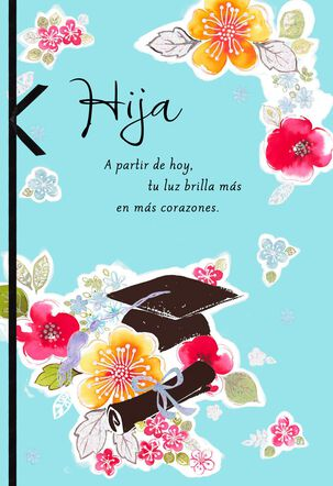 Just the Beginning Spanish-Language Graduation Card for Daughter