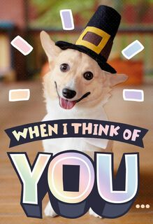 Thinking of You Thanksgiving Card,