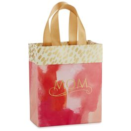 "Pink Watercolor Mother's Day Small Gift Bag, 6.5"", , large"