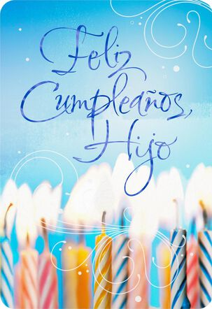 Every Moment With Joy Spanish-Language Son Birthday Card