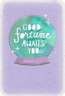 Crystal Ball Good Luck Encouragement Card,