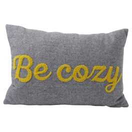 Be Cozy Gray 18x12 Bolster Pillow, , large