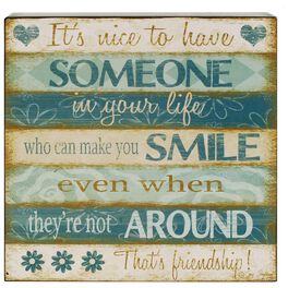 Friends Make You Smile Box Sign, 8x8, , large