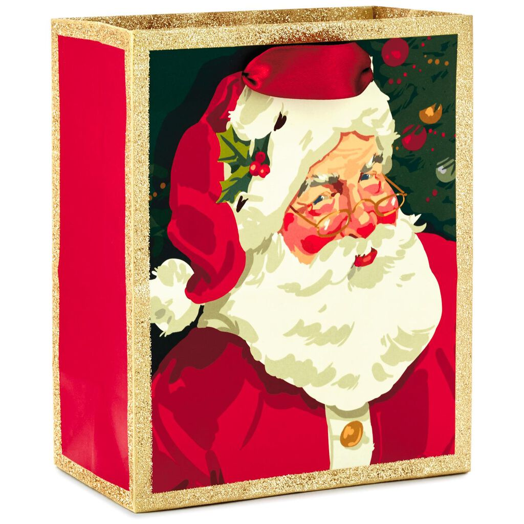 Classic Santa Small Christmas Gift Bag, 6.5\