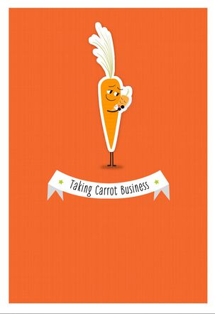Taking Carrot Business 1st Father's Day Card