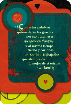 For the Man I Love Romantic Spanish-Language Father's Day Card