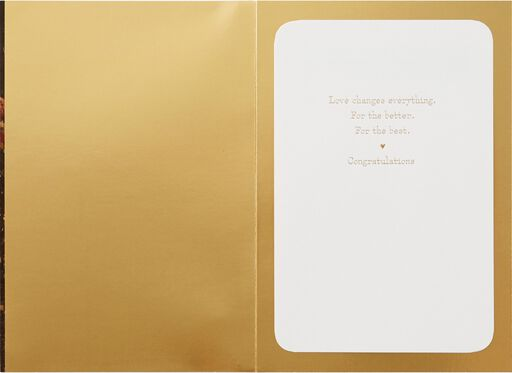 Love Changes Everything Wedding Card,