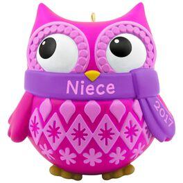Cute Owl Niece Ornament, , large