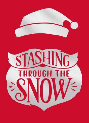 Santa's 'Stache and Beard Christmas Card