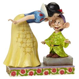 Jim Shore Sweetest Farewell—Snow White Kissing Dopey Figurine, , large