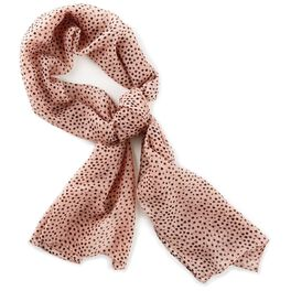 Pink Scarf With Black Dots, , large