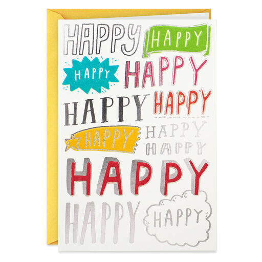 Happy All Over Birthday Card