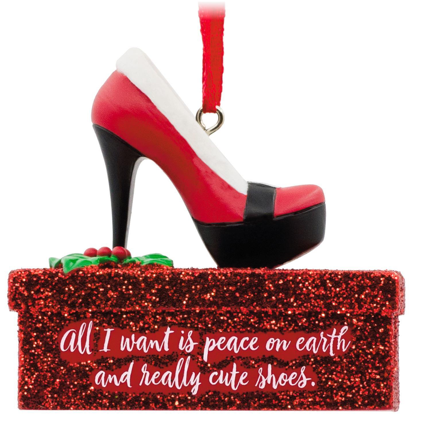 e010b3efea9c Santa high heel shoe hallmark ornament gift ornaments hallmark jpg  1024x1024 Santa heels