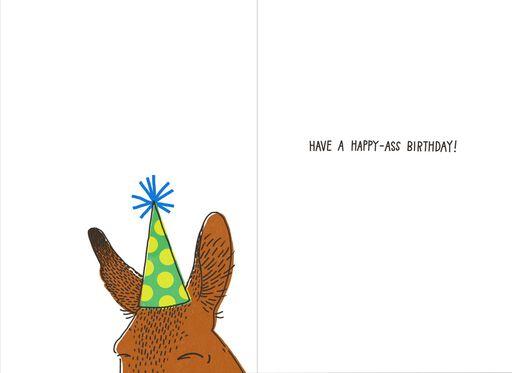Happy Ass Funny Birthday Card,