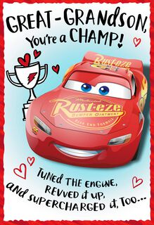 Disney/Pixar Cars You're a Champ Valentine's Day Card,