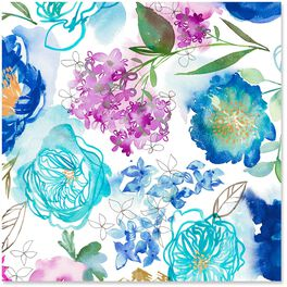 Watercolor Blooms Wrapping Paper Roll, 27 sq. ft., , large