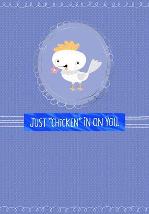 Chicken In Encouragement Card