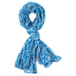 Blue With Ferns Scarf, , large