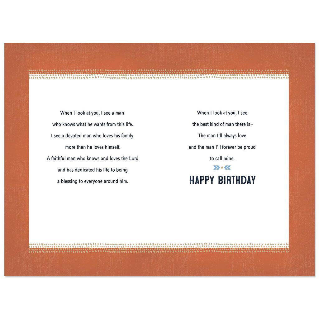 Devoted And Faithful Religious Birthday Card For Husband