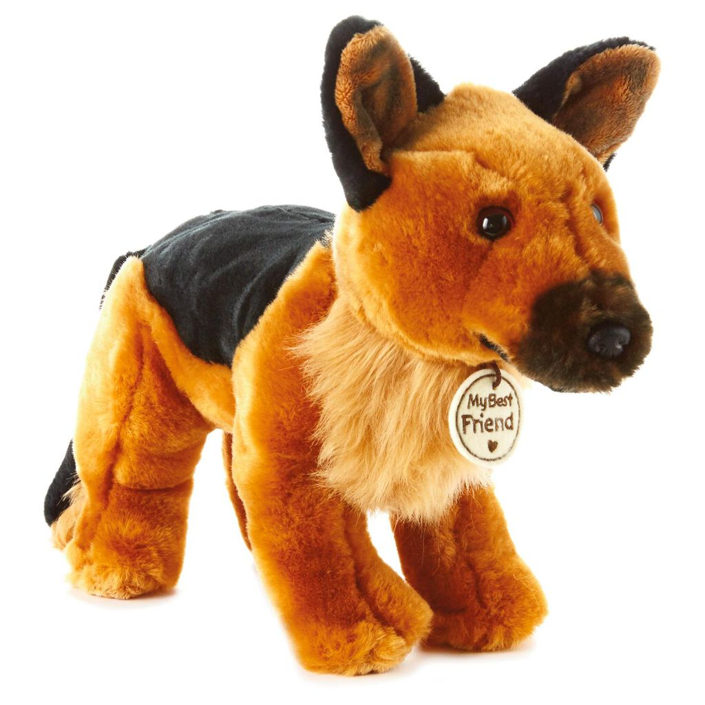 Brown And Black Service Dog Large Stuffed Animal Classic Stuffed