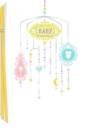 Sweet Dreams Come True New Baby Card