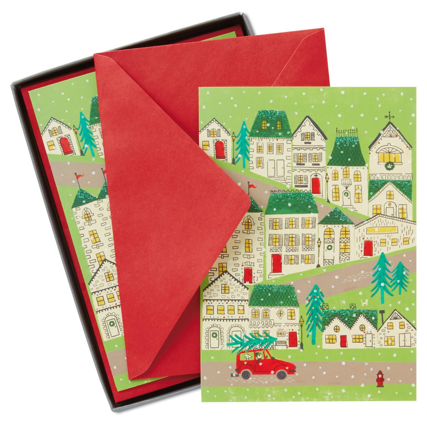 Box Of Christmas Cards - Christmas Lights Card and Decore