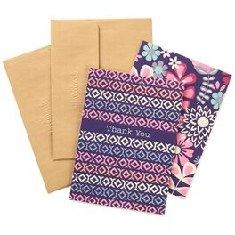 Flowers and Pattern Thank You Notes, Pack of 8, , large