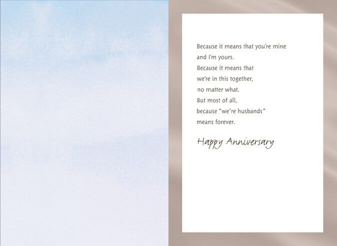 Gay wedding anniversary cards greeting photo cards zazzle