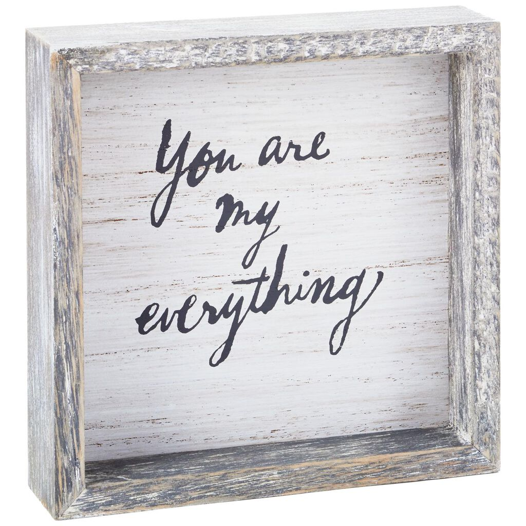 You Are My Everything Rustic Wood Quote Sign 575x575 Plaques