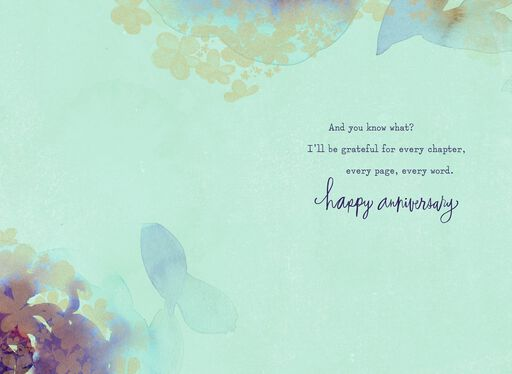 Watercolor Flowers Anniversary Card,