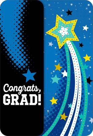Shooting Star Musical Graduation Card With Light