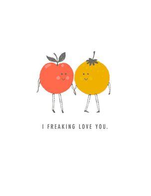 Fruit Pair Love Card